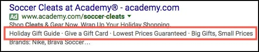 adwords callout ad extension example