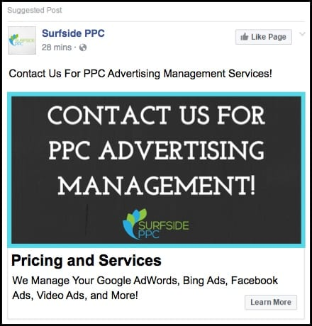 b2b facebook advertising example