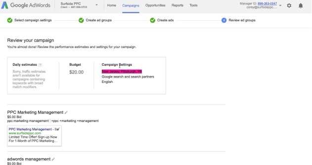 step 10 review your adwords campaign