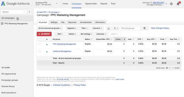 step 11 publish your adwords campaign