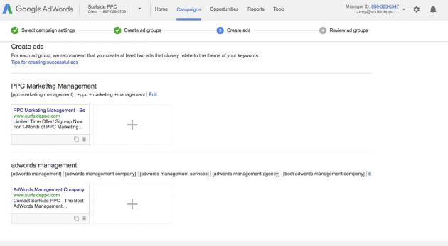 step 9 create multiple ads per ad group