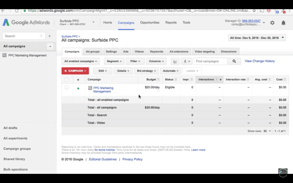 Sign In To Google AdWords