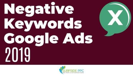 google ads negative keywords
