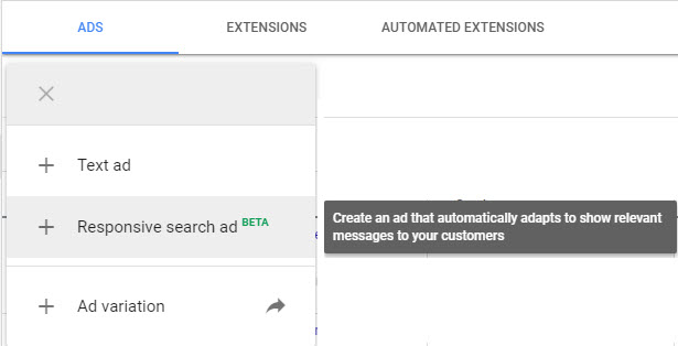 create responsive search ads google ads