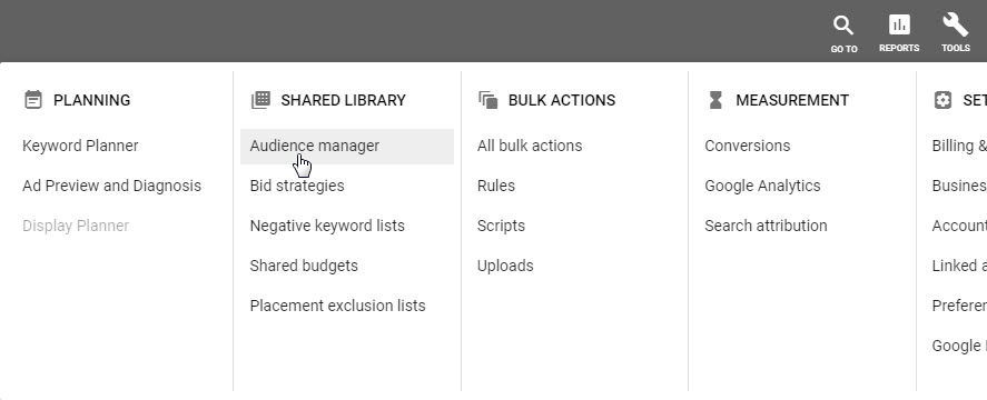 google ads tools shared library