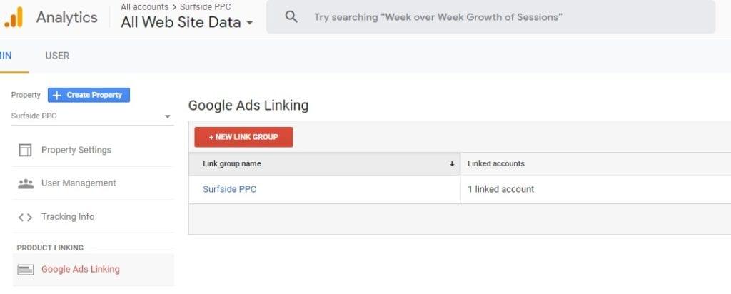 link google ads and google analytics