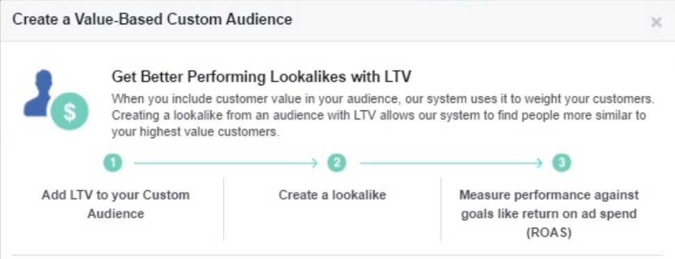 customer ltv facebook audiences