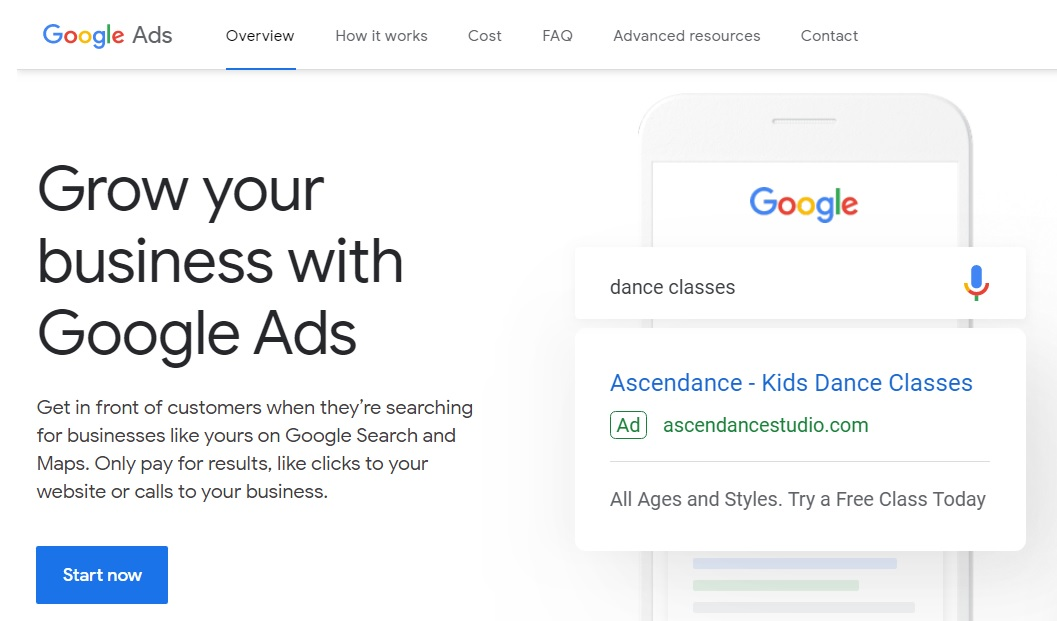 Create Google Ads Account