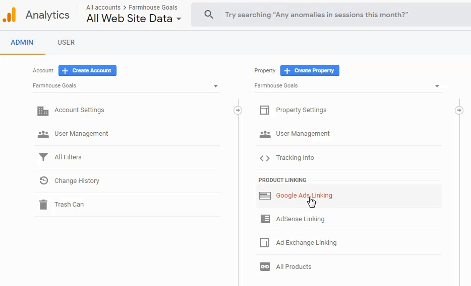 Link Google Ads and Google Analytics Account
