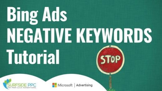 bing ads negative keywords