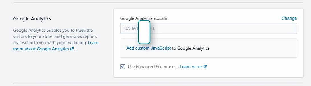 add google analytics to your shopify website enable enhanced ecommerce