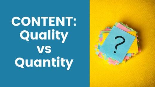 content quality vs quantity