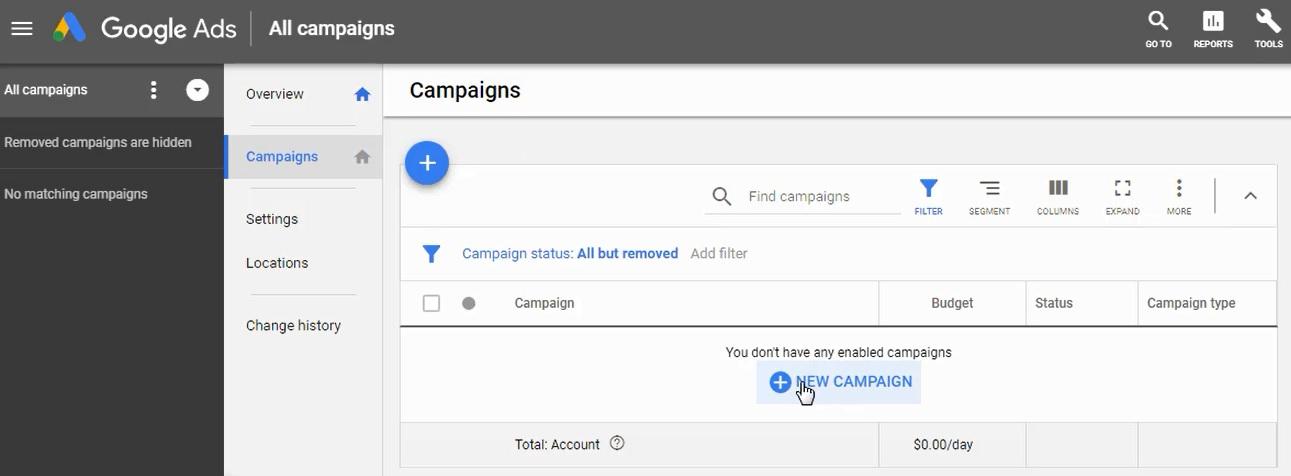 create a new campaign