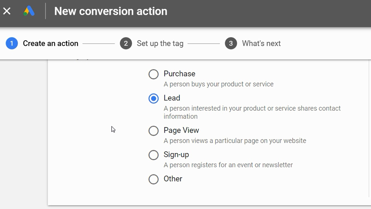 create new conversion