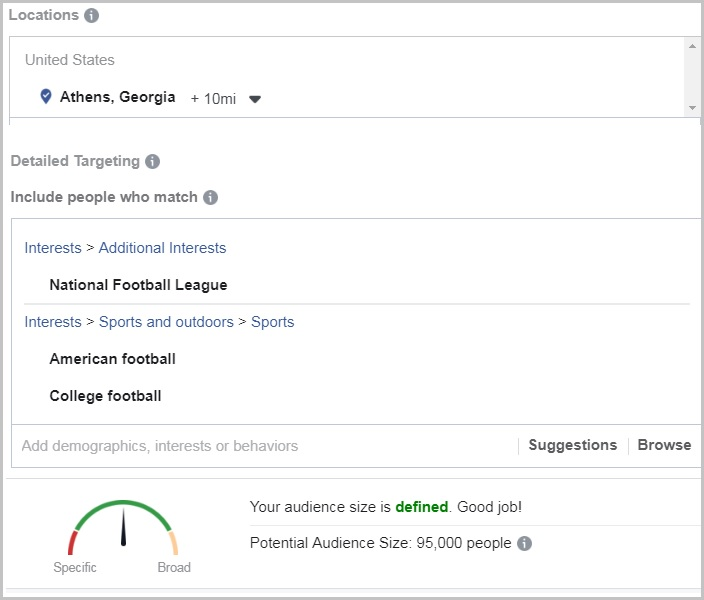 facebook ads targeting boost posts
