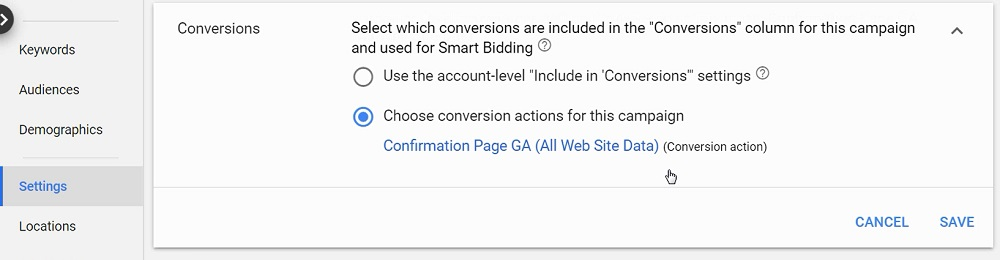 optimize for conversion in your campaign