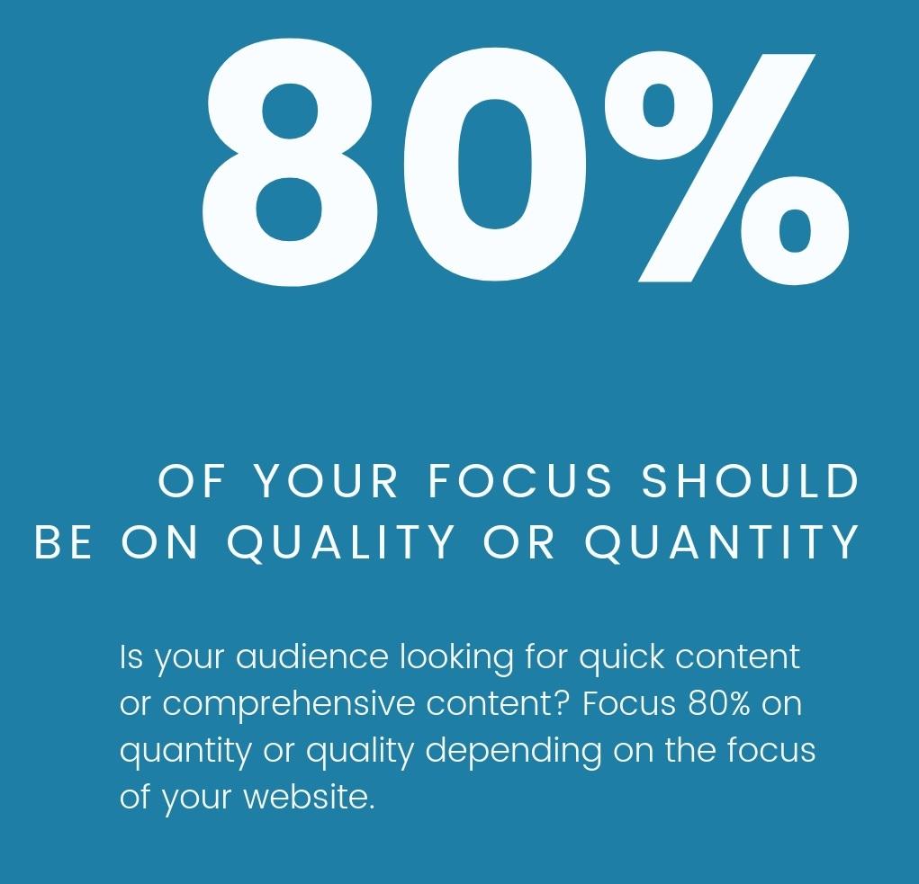 quality content vs quantity content