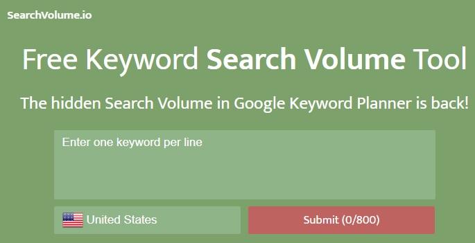 searchvolume keyword tool