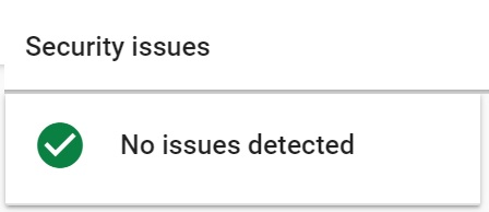 security issues google search console