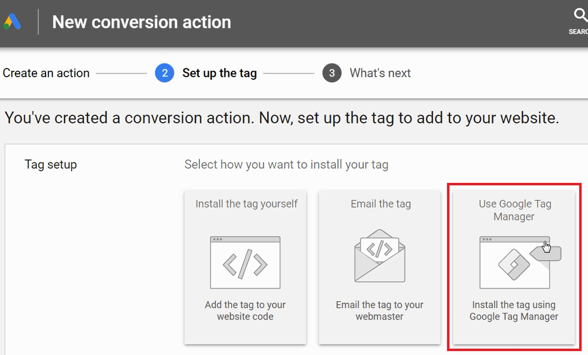 use google tag manager