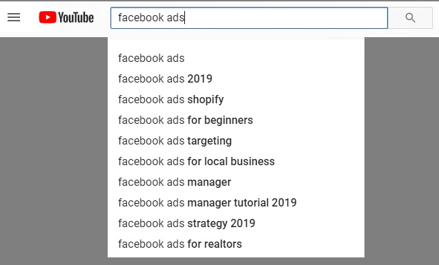 youtube autocomplete