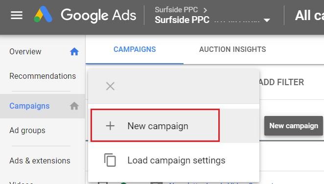 Create a campaign in Google Ads
