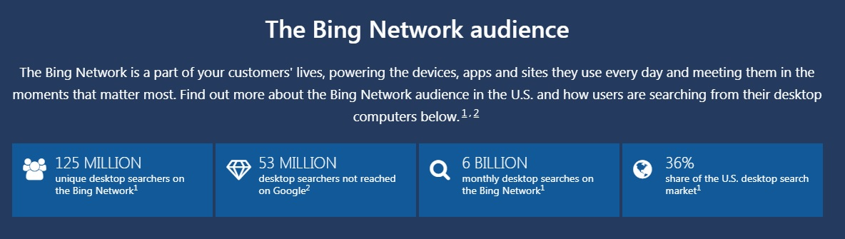 bing network audience