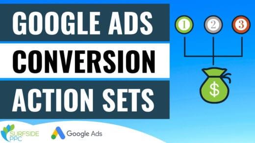 google ads conversion action set