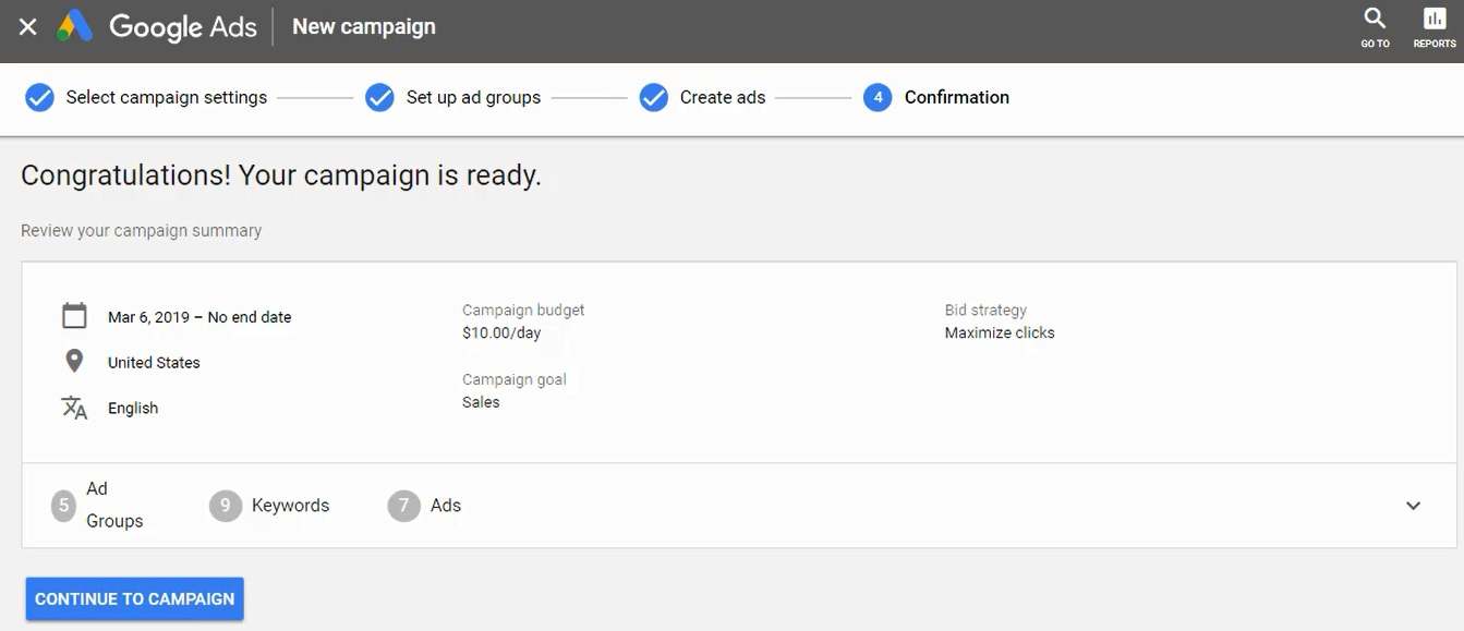 launch your google ads campaign