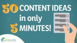 Get 50 Website Content Ideas in 5 Minutes