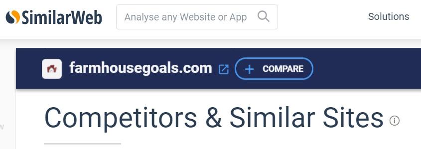 SimilarWeb organic competitors seo