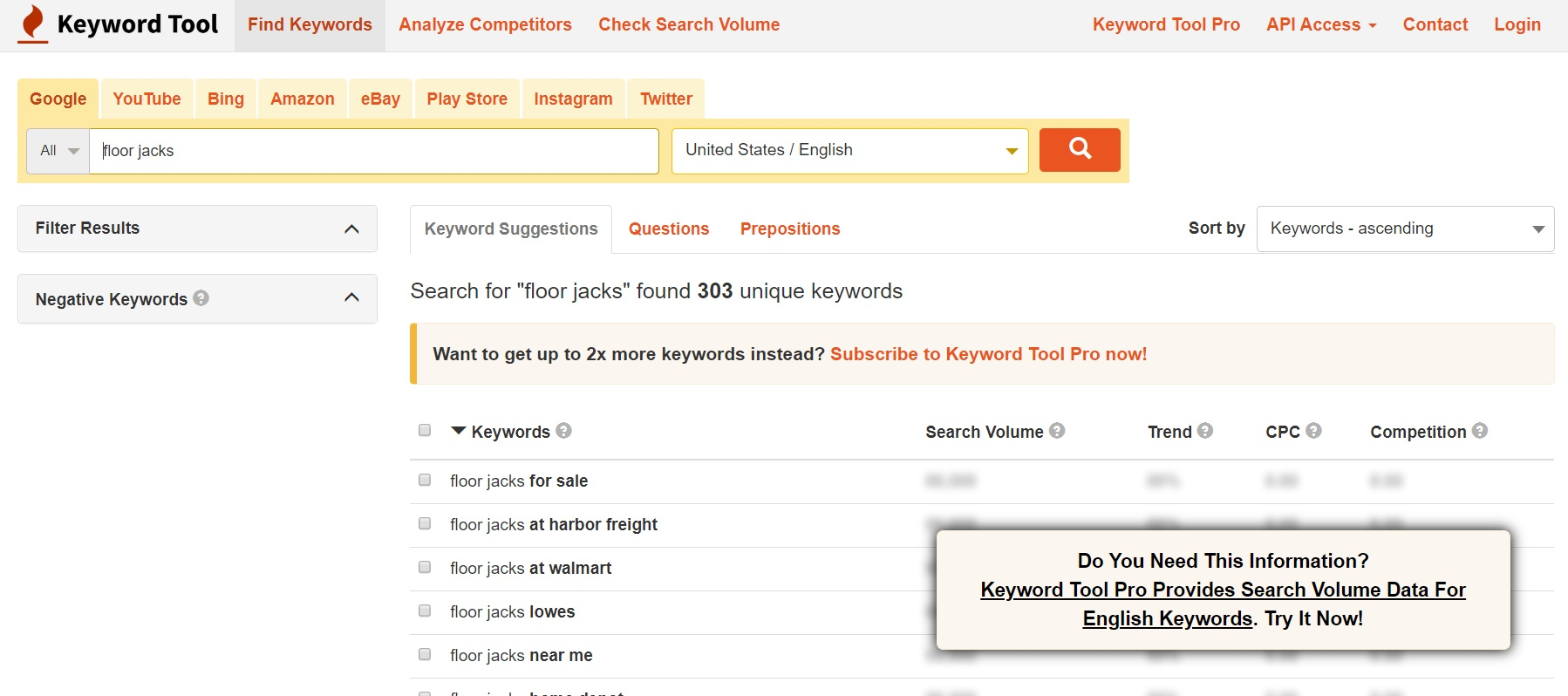 keywordtool.io keyword research tool