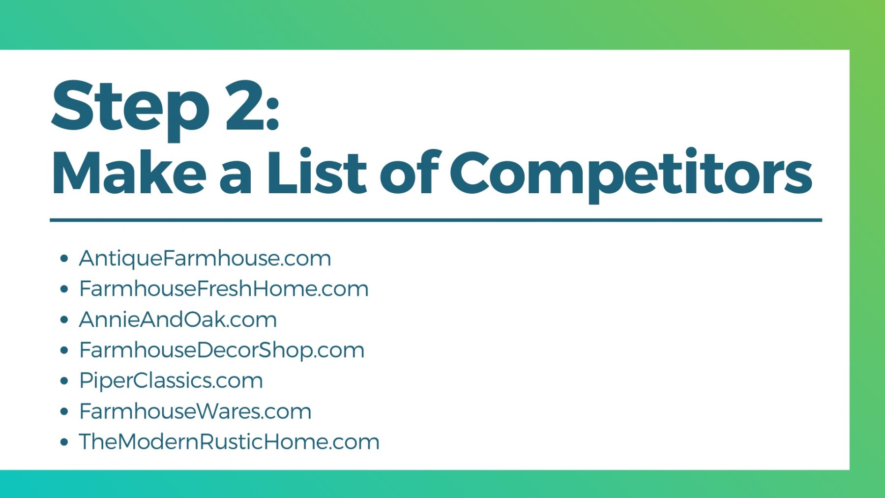 seo competitor list