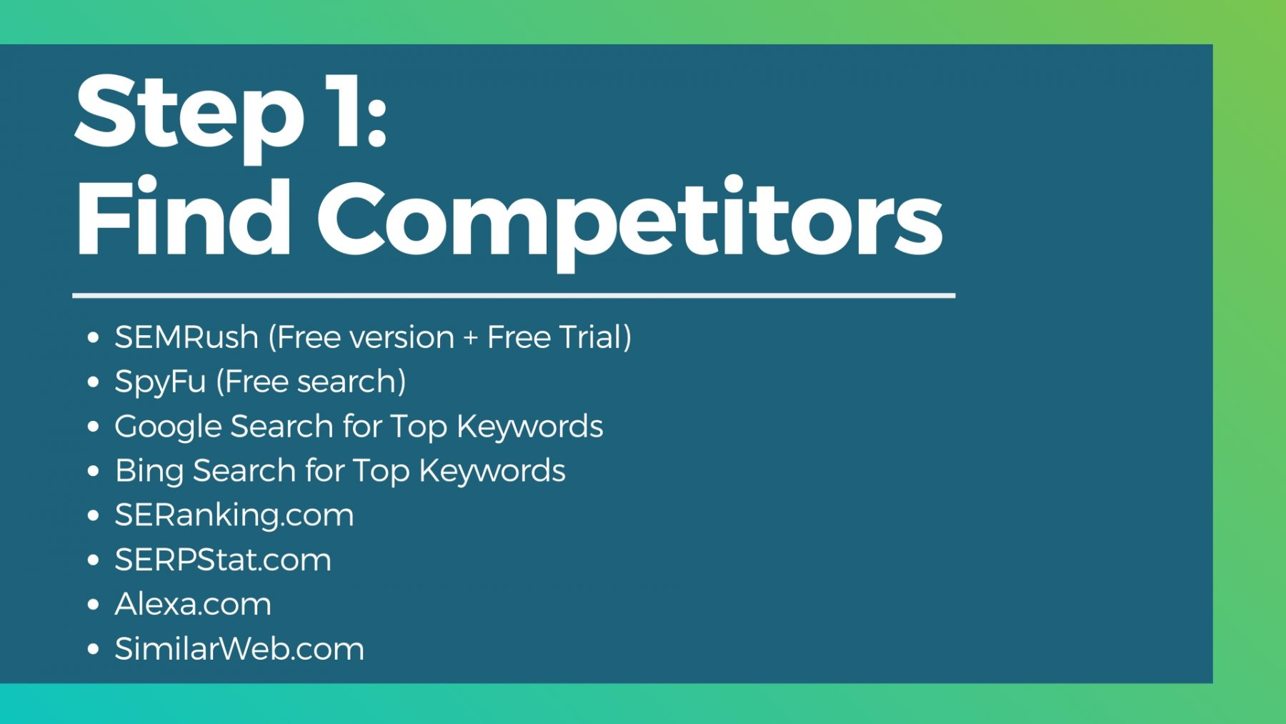 seo competitor tools free