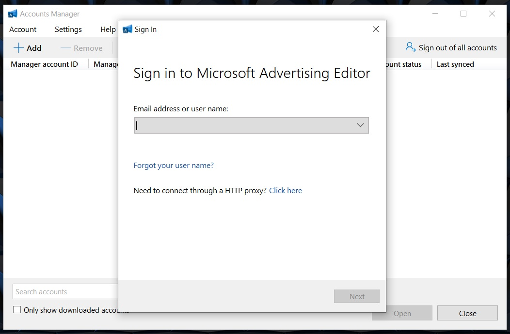 3 sign in microsoft advertising account download campaigns