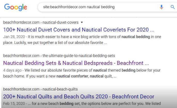 google site search keyword cannibalization