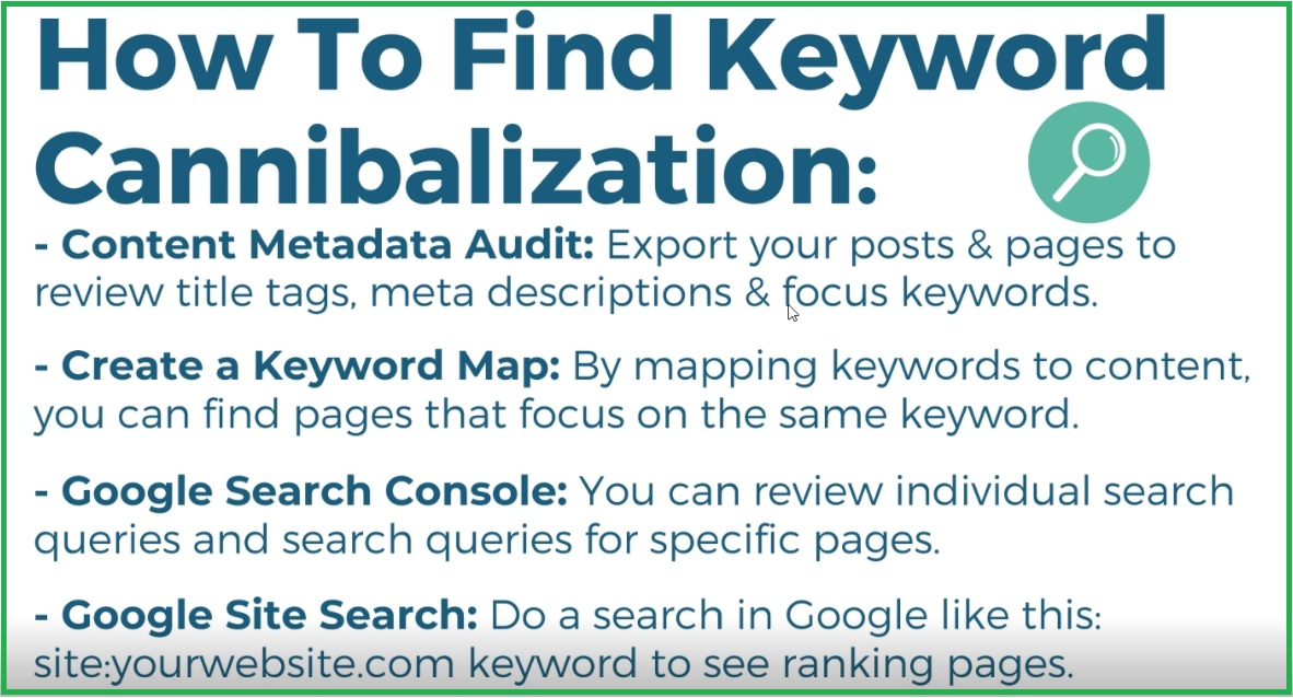 how to find keyword cannibalization