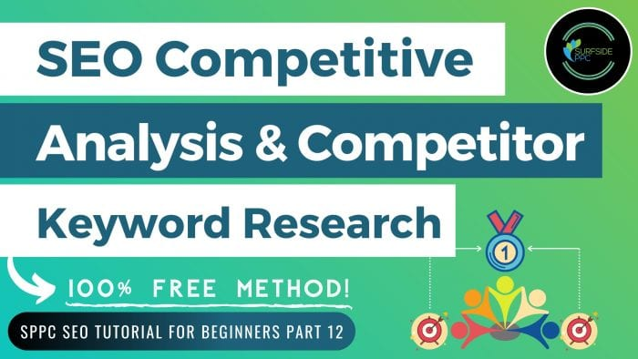 seo competitive analysis seo competitor keyword research