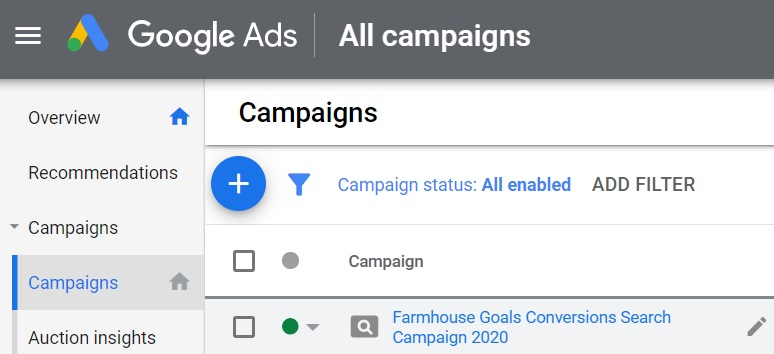 1 click on your search campaign
