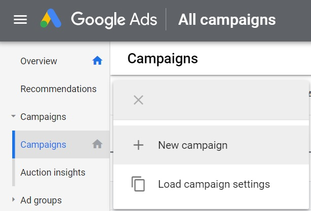 1 create a new campaign