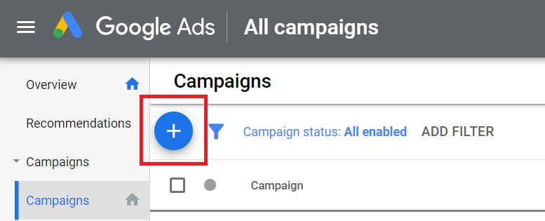 create new google ads campaign