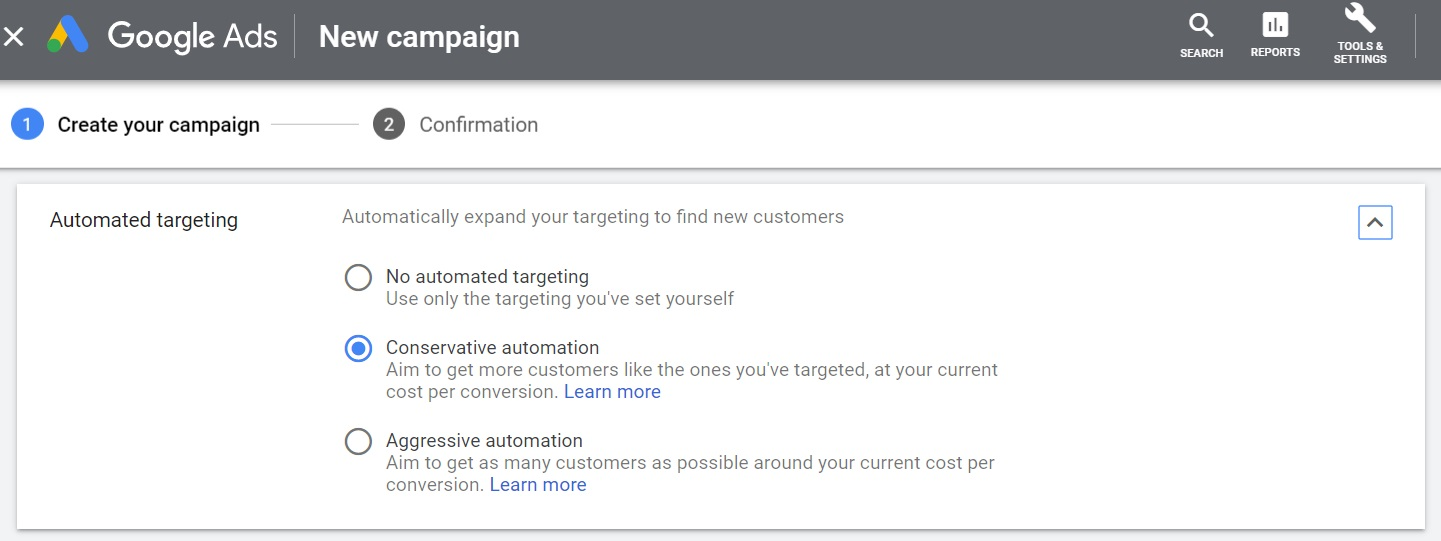 Set Automated Targeting for Gmail Ads