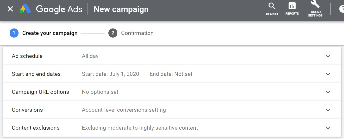 adjust additional settings in google ads