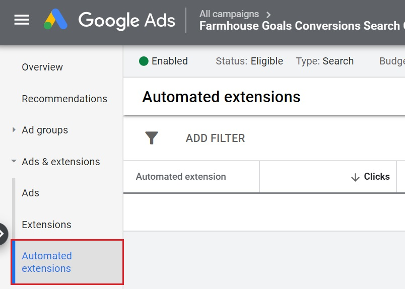automated google ads extensions