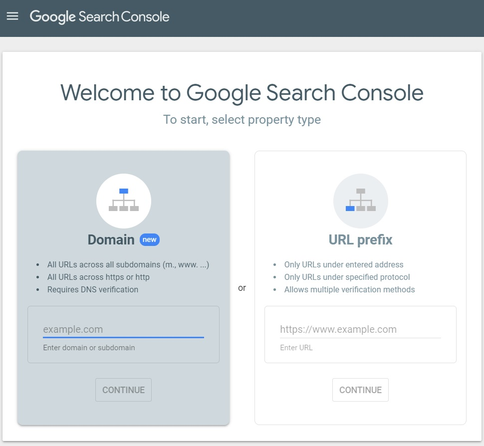 welcome to Google Search Console