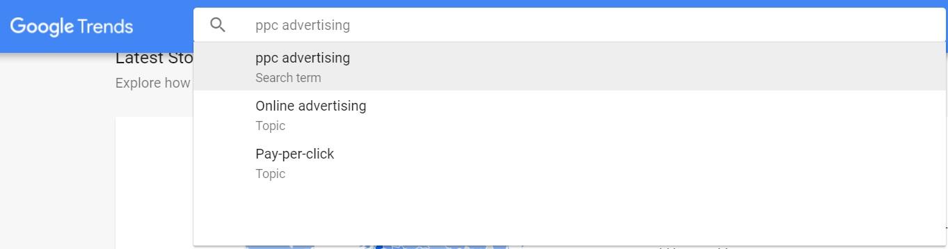 google trends keywords